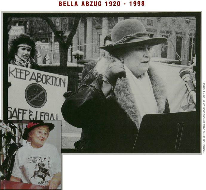 Bella abzug image for Pioneer woman magazine second issue
