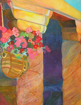 On The Issues Magazine - Ellen Pliskin; HANGING BASKET, 2006, watercolor